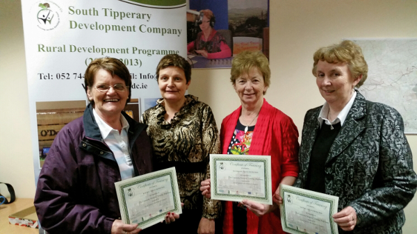 (L to R) Breda Ryan, Isabel Cambie (South Tipperary Development Company), Nora Samworth & Ann Power.