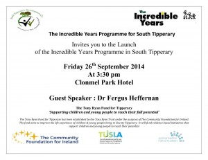 Invitation to IYP South Tipperary  Launch