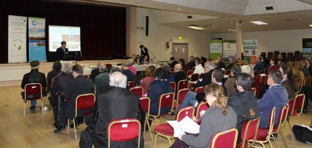Paul Kenny - CEO Tipperary Energy Agency addresses delegates at the event in halla na Feile, Cashel