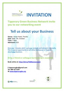 Anner TGBN  event  Wed 7th Oct Flyer