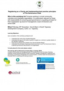 Invitation to LCG's South Tipperary Governance Training