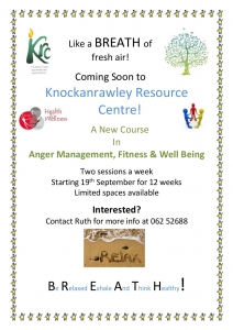 Anger management course poster Aug 16
