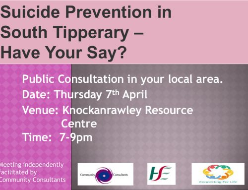 Suicide Prevention in South Tipperary – Have Your Say!!