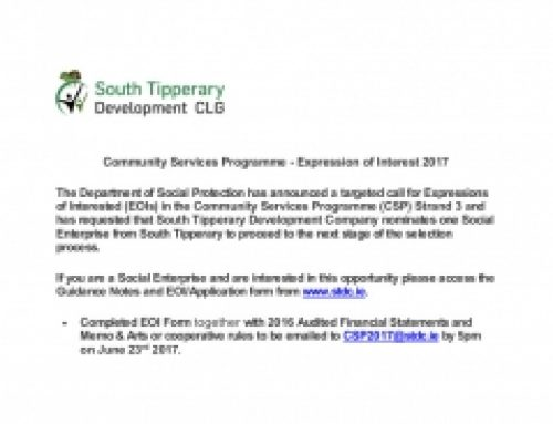 Community Services Programme – Expression of Interest 2017