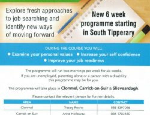 TIME FOR CHANGE : New 6 Week Programme starting in South Tipperary